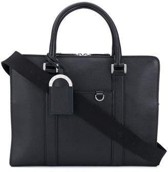 Bvlgari Logo Detail Laptop Bag