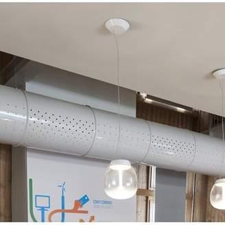 """Artemide Empatia 1 - Light Single Jar LED Pendant with Metal Accents Size: 12.17"""" H x 7.25"""" W x 7.25"""" D"""