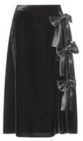 Altuzarra Satin-trimmed velvet skirt