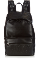 McQ by Alexander McQueen Embossed-logo leather backpack