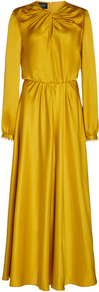 Giambattista Valli Pearl-Embellished Silk-Charmeuse Maxi Dress
