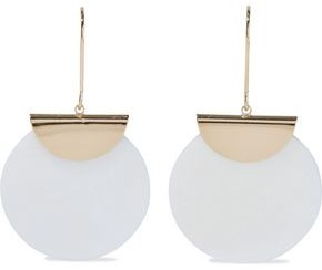 Kenneth Jay Lane Gold-plated Mother-of-pearl Earrings