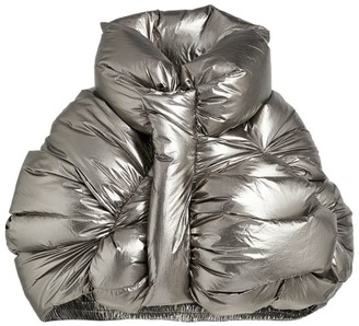 Rick Owens + Moncler Metallic Puffer Coat