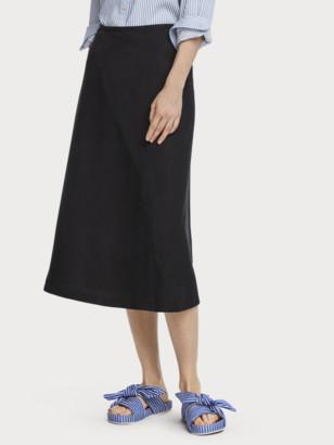 Scotch & Soda Seersucker Bias Cut Midi Skirt | Women