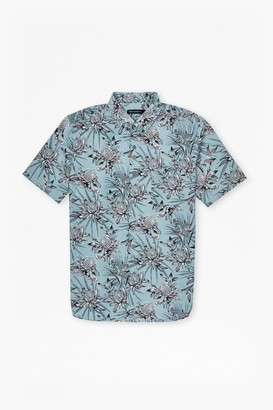 French Connection Koko Cotton Floral Short Sleeve Shirt