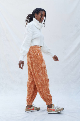 Urban Outfitters Aurora Crushed Velvet Jogger Pant