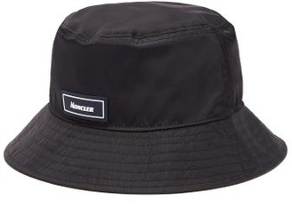 Moncler Logo-patch Nylon Bucket Hat - Mens - Navy