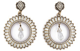 Badgley Mischka Jewelry Radiant Crystal Crown Earrings