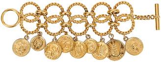 One Kings Lane Vintage 1980s Chanel Coin Bracelet - Vintage Lux - gold