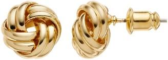 Dana Buchman Love Knot Stud Earrings