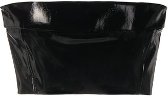 Ann Demeulemeester Patent Cropped Bandeau