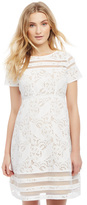 Motherhood Lace Sheer Detail Maternity Dress