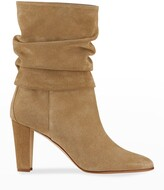 Thumbnail for your product : Manolo Blahnik Shushan 90mm Suede Slouchy Boots