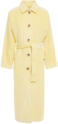 American Vintage Belted Cotton-blend Corduroy Coat