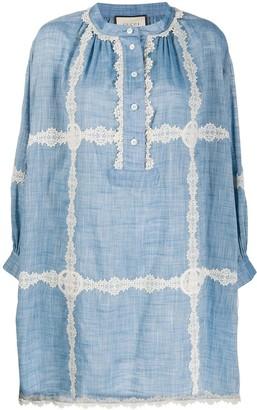Gucci Lace Detail Shift Dress
