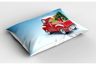 East Urban Home Truck Christmas Sham Size: Twin