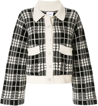 Barrie Check Embroidered Cardigan