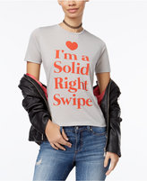 Mighty Fine Juniors' Right Swipe Graphic T-Shirt