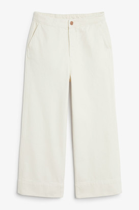Monki Wide denim trousers