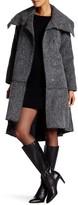 ZAC Zac Posen Delphine Long Length Ruffle Hem Coat