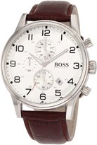 HUGO BOSS Men's 1512447 Silver Leather Quartz Watch