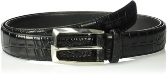 Stacy Adams Men's Big and Tall Ozzie Big & Tall Croc Embossed Belt