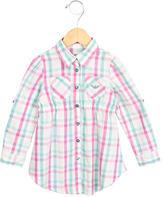 Armani Junior Girls' Plaid Shirt Dress