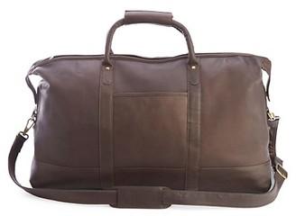 ROYCE New York Colombian Leather Luxury Weekender Duffel Bag