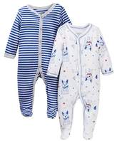 Vitamins Baby Nautical Frenchie Footie - Pack of 2