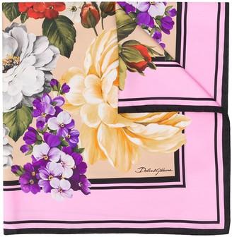 Dolce & Gabbana Floral Print Square Scarf