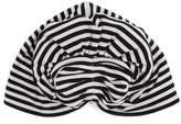 Norma Kamali Striped fan turban