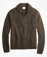 Brooks Brothers Wool-Alpaca-Blend Shawl-Collar Half-Zip Sweater