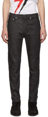 Neil Barrett Black Piercing Jeans