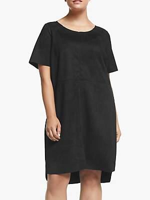 Junarose Curve Sasja Faux Suede Dress, Black