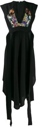 Stella McCartney Floral Patch Midi Dress
