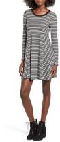 Lush &Ringer& Stripe Swing Dress