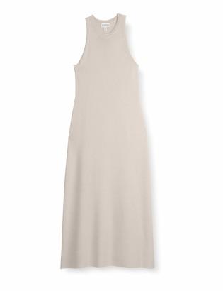 The Drop Women's Gabriela High Neck Cut-In A-Line Side Slit Maxi Sweater Dress