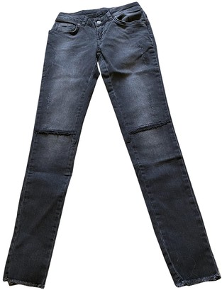 Anine Bing Anthracite Cotton - elasthane Jeans for Women