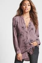 Forever 21 Mandarin Collar Shirt