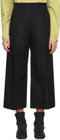 Lemaire Black Large Crop Trousers