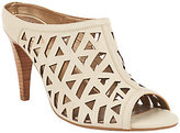 Me Too As Is Leather Cut-Out Heeled Mules - Nya