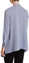 Anne Klein Gingham Asymmetrical Tunic Blouse