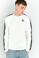 Kappa White Bolo Stripe Long-sleeve Jersey Top