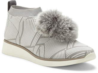 Louise et Cie Buffie Sneaker with Genuine Rabbit Fur Trim