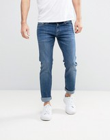 Calvin Klein Jeans Slim Straight Jean In Structured Light Wash