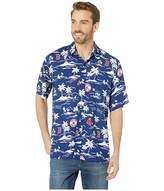 Reyn Spooner Boston Red Sox Vintage Rayon Shirt (Navy) Men's Clothing