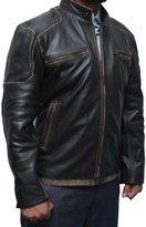 fjackets Captain America Civil War Steve Rogers Leather Jacket L