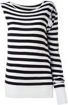 MM6 MAISON MARGIELA asymmetric striped sweatshirt - women - Viscose - S