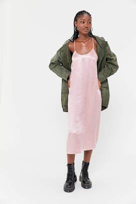 Urban Renewal Vintage Remnants Y-Back Satin Slip Dress