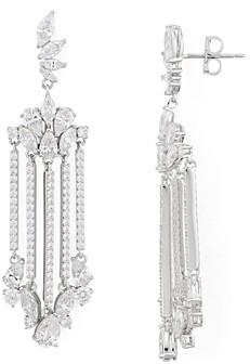 Nadri Loa Faceted Stone Chandelier Earrings